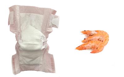 Pañales ecológicos hechos con marisco