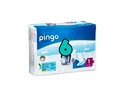 Pañales Pingo talla 6